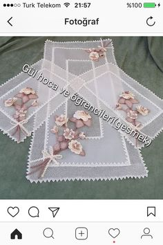 This Pin was discovered by Ayf Burlap Crafts, Diy And Crafts, Burlap Flowers, Point Lace, Needle Lace, Cutwork, Doilies, Needlework, Embroidery