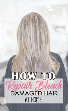 Do you have bleach damaged hair? Here are the exact products and techniques I have used to repair my over processed hair at home. Damaged Hair Repair Diy, Bleach Damaged Hair, Bleached Hair Repair, Hair Mask For Damaged Hair, Bleaching Your Hair, Hair Masks, Treatment For Bleached Hair, Diy Hair Treatment, Hair Treatments