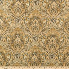 Gold Chinaisa Paisley Home Decor Fabric