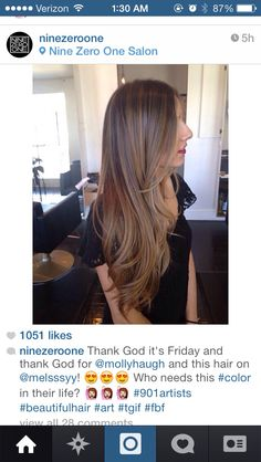 Need this ombré long hair