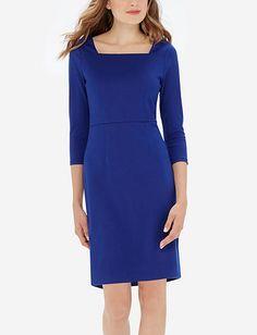Envelope Neck Sheath Dress