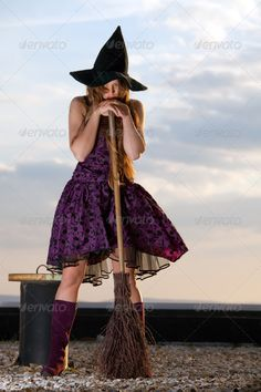 pretty witch with hat and broom ...  adult, attractive, background, beautiful, beauty, bewitched, broom, caucasian, characters, costume, cute, dark, ethnic, evil, eye, face, fantasy, fashion, fear, female, fun, girl, gorgeous, gothic, hair, halloween, happy, hat, haunted, hell, holding, holiday, horror, joy, magic, model, mystery, outfit, people, person, posing, pretty, scary, sorceress, spell, white, witch, woman, young