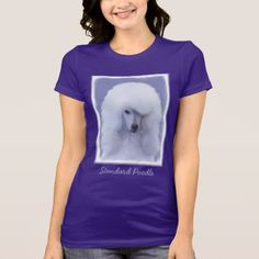 #Standard Poodle (White) T-Shirt - #poodle #puppy #poodles #dog #dogs #pet #pets #cute