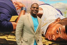 Los Angeles native and New York based visual artist, Kehinde Wiley has firmly situated himself within art history's portrait painting tradition. As a contemporary descendent of a long line of portraitists, including Reynolds, Gainsborough, Titian, Ingres, among others, Wiley, engages the signs and visual rhetoric of the heroic, powerful, majestic and the sublime in his representation of urban, black and brown men found throughout the world.