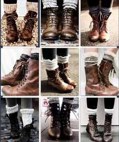 Love the socks and combat boot look