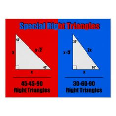 Special Right Triangles- perfect! I've been doing these in geometry!