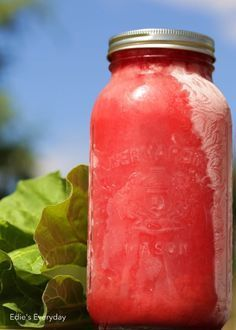 Edie's Everyday: Rhubarb Slush: One of the Best Frozen Drinks You'll Ever Taste