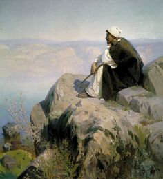 Vasily Polenov (Russian, 1844-1927) Christ overlooking Jerusalem (c. 1885) Oil on canvas. The State Tretyakov Gallery, Moscow.