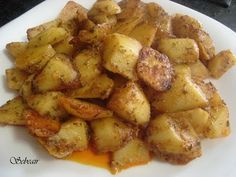 Receta PATATAS CAJUN (fussioncook) para la cocina de sebeair Tapas, Roasted Potatoes, A Table, Sweet Potato, Potato Salad, Vegetables, Cooking, Ethnic Recipes, Food
