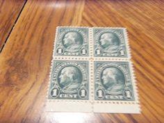 1922-25 -#552 1CT FRANKLIN BLOCK 4-MNH, OG, VF,$+ GIN BONUS
