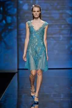 Alberta Ferretti Spring 2013/Milan  Sheer dresses—both long and short—were done with the same lightness as a negligee.    Read more: Milan Fashion Week Spring 2013 Runway Looks -   Best Spring 2013 Runway Fashion - Harper's BAZAAR