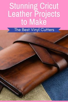 Looking for some stunning Cricut Leather Projects to whip up? We're sharing 5 f. - Looking for some stunning Cricut Leather Projects to whip up? We're sharing 5 fabulous leather p - Cricut Ideas, Cricut Tutorials, Cricut Craft, Leather Gifts, Leather Wallet, Leather Case, Make Your Own Stencils, Diy Leather Projects, Leather Diy Crafts