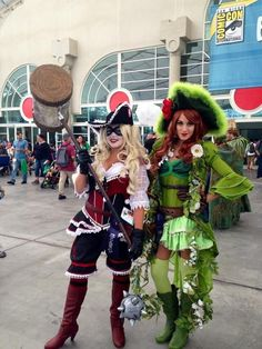Move aside Jack Sparrow. This Harley Quinn and Poison Ivy make terrific pirates.