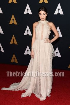 #HaileeSteinfield #WhiteDresses #LaceDresses #ChiffonDresses #EveningDress 8th Annual Governors Awards - #CelebrityDresses