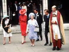 June 4, 1981: Lady Diana Spencer joined the Queen Mother, Princess Margaret and Prince Charles at the wedding of Nicholas Soames and Catherine Weatherall at St Margaret's Church, London.