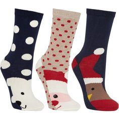 Dress your toes in jolly festive fun with these playful socks from John Lewis. Each design features a different seasonal character to give you that Christmas f…