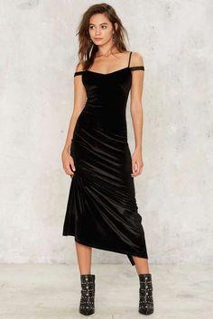 Nasty Gal Maxi Driver Velvet Dress - Clothes | Maxi Dresses | Black Dresses | Dresses