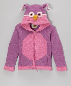 A cozy wool-blend construction and a playful animal silhouette make this zip-up hoodie a perfect choice for cuddling up little critters.