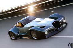2014 Bugatti 12.4 Atlantique Concept Car by Alan Guerzoni.