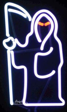 The grim reaper. In neon.