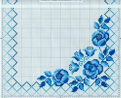 This Pin was discovered by Lau Cross Stitch Rose, Cross Stitch Borders, Cross Stitch Flowers, Cross Stitch Charts, Cross Stitch Designs, Cross Stitching, Cross Stitch Patterns, Hardanger Embroidery, Cross Stitch Embroidery