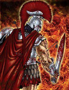 Ares, God of War by RubusTheBarbarian.deviantart.com on @deviantART