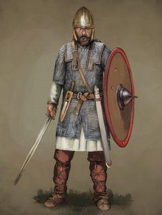 Frankish Warrior by JLazarusEB.deviantart.com on @DeviantArt
