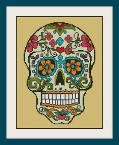 Sugar skull INC Cross Stitch Pattern BOGO PDF counted  Sugar skull cross stitch patternR099 (4.45 USD) by MagicStitching