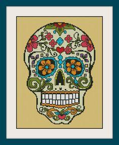 Sugar skull INC Cross Stitch Pattern BOGO PDF counted  Sugar skull cross stitch patternR099 (4.45 USD) by MagicStitching