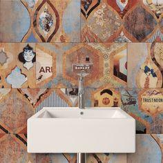 Magic bege and bege wave 10x28 wall tile gresart for Pavimentos ceramicos baratos