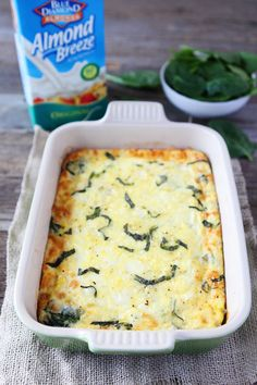 Spinach Artichoke Egg Casserole Recipe on twopeasandtheirpod.com Love this easy egg casserole! It's perfect for Easter or Mother's Day brunch!