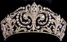 The Flower of Lis Diamond Tiara. This tiara is said to be one of the most cherished by the Spanish Royal Family. It was a present given by King Alfonso XIII to Queen Victoria Eugenia, who wore it at their wedding on the 31 of May 1906.