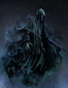 Dark Fantasy Art, Dark Art, Grim Reaper Art, Don't Fear The Reaper, Dark Reaper, Dark Creatures, Fantasy Creatures, Images Harry Potter, Bild Tattoos