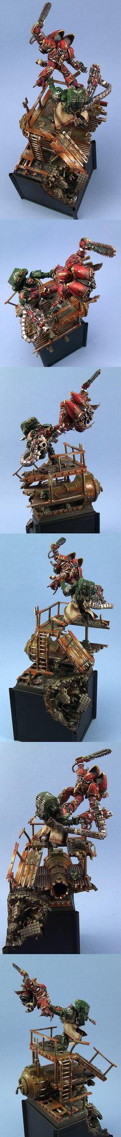 Warhammer 40k, Space Marines vs. Chaos Space Marines. Chaos Raptor against Loyalist Dark Angels Devastator
