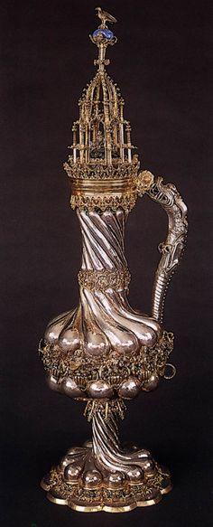 UNKNOWN GOLDSMITH, German  Goslar Mining Cup  after 1477  Silver, part gilt, height 73 cm  Town Hall, Goslar