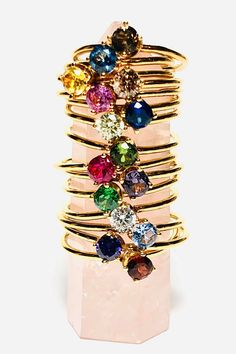 Keep those you love close with a birthstone gold stacking ring. Add to your stacking ring collection with a ring for each of your children. Gift to yourself, your mom for Mother's Day, or for a birthday. Birthstone Stacking Rings, Friend Rings, Small Rings, Bohemian Fashion, Gold Style, Purple Amethyst, Birthstones, Gifts For Her, Gemstone Rings