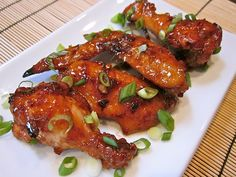 asian sticky wings - Budget BytesTrying it for dinner tonight hope it turns out good Chicken Snacks, Chicken Wing Recipes, Chicken Soup, Roasted Chicken, Fried Chicken, Asian Recipes, Healthy Recipes, Ethnic Recipes, Yummy Recipes