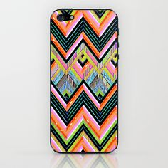 Infatuation Chevron iPhone & iPod Skin by Joan McLemore - $15.00