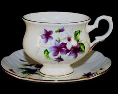 Crown Staffordshire porcelain cup and saucer set