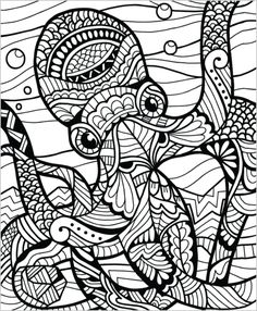 Adult Coloring Pages Book Wild Animals Volume 1 Illustrated By Terbit Basuki