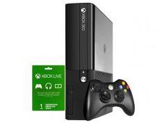 Xbox 360 4GB com Controle sem Fio - Cartão Xbox Live 1 Mês - Microsoft