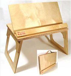 Original Bed Desk Portable Bookstand Lap Stand Art Easel Laptop Computer Breakfast Craft Scrapbook Eating Reading Typing Bed Desk TVTray