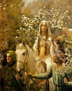 Queen Guinevres by John Collier