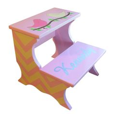 Custom Childrens Chevron Step Stool