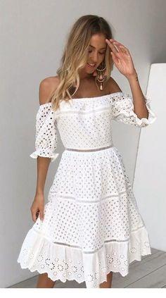 Crochet dress for women boho chic lace tops 32 super Ideas Crochet Dress Outfits, Crochet Summer Dresses, Summer Dresses For Women, Crochet Clothes, Girly Outfits, Fall Outfits, Casual Dresses, Fashion Dresses, Maxi Dresses