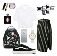 """""""Stripes"""" by begumbs on Polyvore featuring moda, Balenciaga, Love Moschino, Vans, T By Alexander Wang, Skagen, Gucci ve Yves Saint Laurent"""