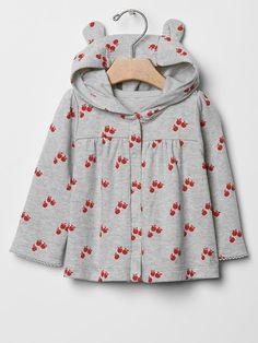 Gap Apple print bear hoodie
