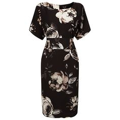 Buy Phase Eight Joanie Floral Print Dress, Black/Multi Online at johnlewis.com