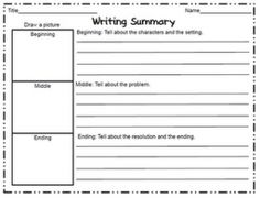 Writing Summary (Story Map) by wteresa