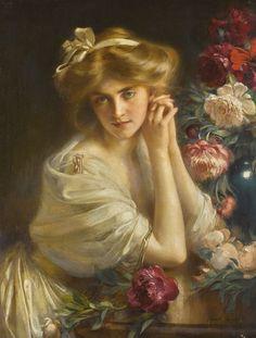 Albert Lynch (Peruvian, 1851 Trujillo, Peru - 1912 Monaco).  DOLCE FAR NIENTE